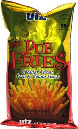 Utz Baked Pub Fries Cheddar Cheese Corn & Potato Snack
