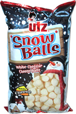 Utz Snow Balls White Cheddar Cheese Balls