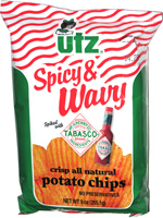 Utz Spicy & Wavy Tabasco Potato Chips