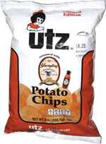 Utz Potato Chips seasoned with Yuengling Traditional Original Amber Beer Hot Wing Sauce