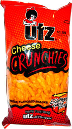 Utz Cheese Crunchies Cheese Flavored Snacks