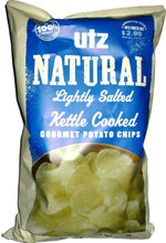 Utz Natural Lightly Salted Kettle Cooked Gourmet Potato Chips