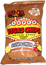 Super Vegas Chips Kettle Style Steak & Onion