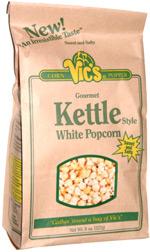 Vic's Corn Popper Gourmet Kettle Style White Popcorn