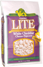 Vic's Corn Popper Gourmet Lite White Cheddar Cheese Popcorn