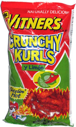 Vitner's Crunchy Kurls Sizzlin' Hot y Limon