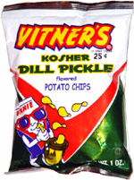 Vitner's Kosher Dill Pickle Potato Chips