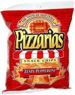 Pizzarias Zesty Pepperoni Snack Chips