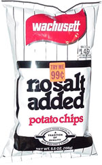 Wachusett No Salt Added Potato Chips