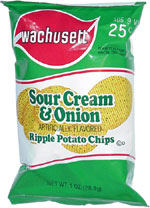 Wachusett Sour Cream & Onion Ripple Potato Chips