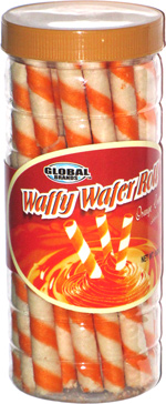 Waffy Wafer Roll Orange Cream Filled