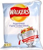 Walkers Argentinean Flame Grilled Steak Flavour Potato Crisps