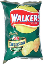 Walkers Cheese and Branston Pickle Flavour Crisps