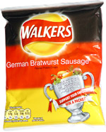 Walkers German Bratwurst Sausage Flavour Potato Crisps