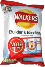 Walkers Builder's Breakfast Flavour Potato Crisps