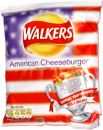 Walkers American Cheeseburger Flavour Potato Crisps