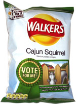 Walkers Cajun Squirrel Flavour Potato Crisps
