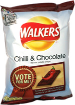 Walkers Chilli & Chocolate Flavour Potato Crisps