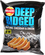 Walkers Deep Ridged Mature Cheddar & Onion