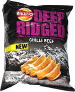Walkers Deep Ridged Chilli Beef