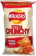 Walkers Extra Crunchy Simply Salted Potato Crisps