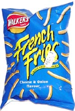 Walkers French Fries Crispy Potato Sticks Cheese & Onion Flavour