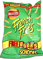 Walkers French Fries Crispy Potato Sticks Salt & Vinegar Flavour