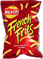 Walkers French Fries Crispy Potato Sticks Worcester Sauce Flavor