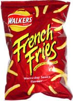 Walkers French Fries Crispy Potato Sticks Worcester Sauce Flavor
