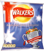 Walkers Australian BBQ Kangaroo Potato Crisps