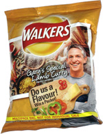 Walkers Gary's Special Lamb Curry Flavour Potato Crisps