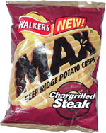 Walkers Max Chargrilled Steak Deep Ridge Potato Crisps
