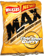 Walkers Max Chip Shop Curry Deep Ridge Potato Chips