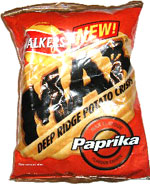 Walkers Max Paprika Deep Ridge Potato Crisps