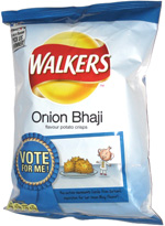 Walkers Onion Bhaji Flavour Potato Crisps