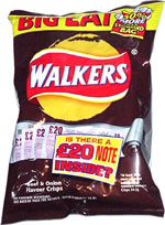 Walkers Beef & Onion Flavour Crisps