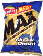 Walkers Max Deep Ridge Potato Crisps Cheese and Onion