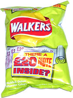 Walkers Pickled Onion Flavour Crisps