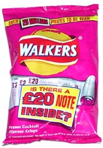 Walkers Prawn Cocktail Flavour Crisps