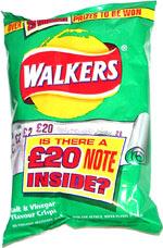 Walkers Salt & Vinegar Flavour Crisps