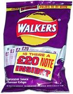 Walkers Worcester Sauce Flavour Crisps