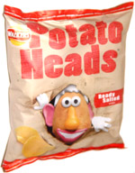 Walkers Potato Heads Ready Salted Crisps