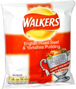 Walkers English Roast Beef & Yorkshire Pudding Flavour Potato Crisps