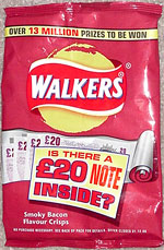 Walkers Crisps Smoky Bacon Flavour
