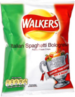Walkers Italian Spaghetti Bolognese Flavour Potato Crisps