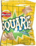 Walkers Square Potato Snacks Cheese & Onion Flavour