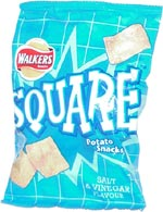 Walkers Square Potato Snacks Salt & Vinegar Flavour