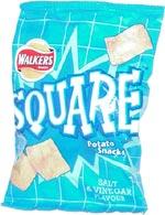 Walkers Square Potato Snacks Salt & Vinegar Flavour