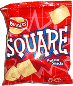 Walkers Square Potato Snacks Ready Salted
