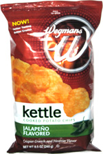 Wegmans Kettle Cooked Potato Chips Jalapeño Flavored